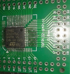 STM8S105S4T6C Adapterboard