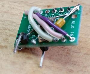 WS2811 Testboard seitlich unten